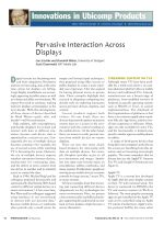 Pervasive Interaction Across Displays